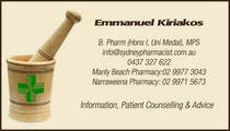 Graphic Design Contest Entry #1 for Business Card Design for retail pharmacist based in Sydney, Australia