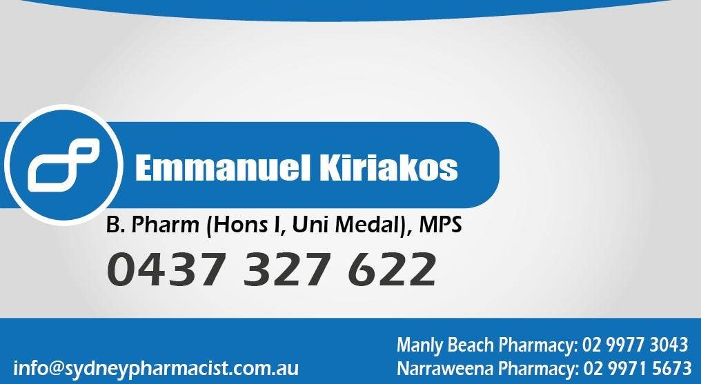 Contest Entry #143 for Business Card Design for retail pharmacist based in Sydney, Australia