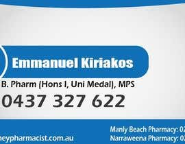 #143 dla Business Card Design for retail pharmacist based in Sydney, Australia przez daviddesignerpro