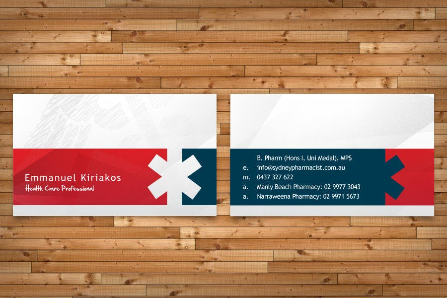 Contest Entry #103 for Business Card Design for retail pharmacist based in Sydney, Australia