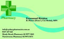 Graphic Design Contest Entry #18 for Business Card Design for retail pharmacist based in Sydney, Australia
