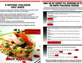 nº 7 pour Take away menu for italian restaurant par xpressro