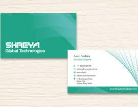 #35 untuk Design some Business Cards for Shreya Global Technologies oleh sami24x7