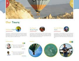 #9 cho Hot Air Balloon ride business Web Site Mockup bởi zaxsol