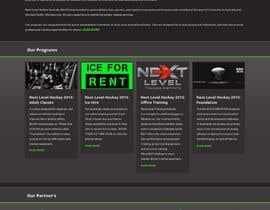 #21 cho Design a Website Mockup for NextLevelHockey bởi negibheji