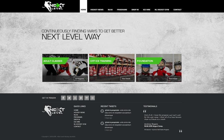 Bài tham dự cuộc thi #9 cho Design a Website Mockup for NextLevelHockey