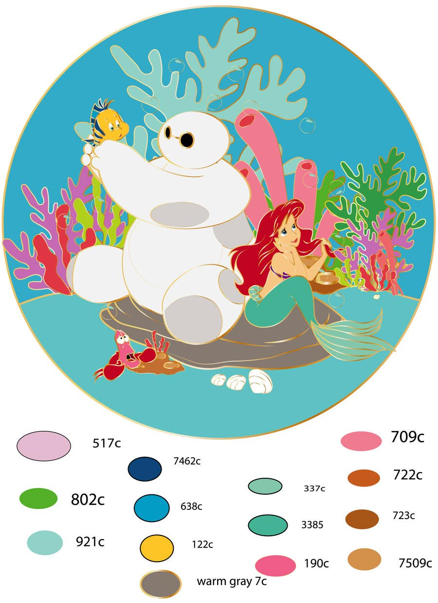 Penyertaan Peraduan #15 untuk Illustrate Something for Disney Fan Art as Ai/Vector file.