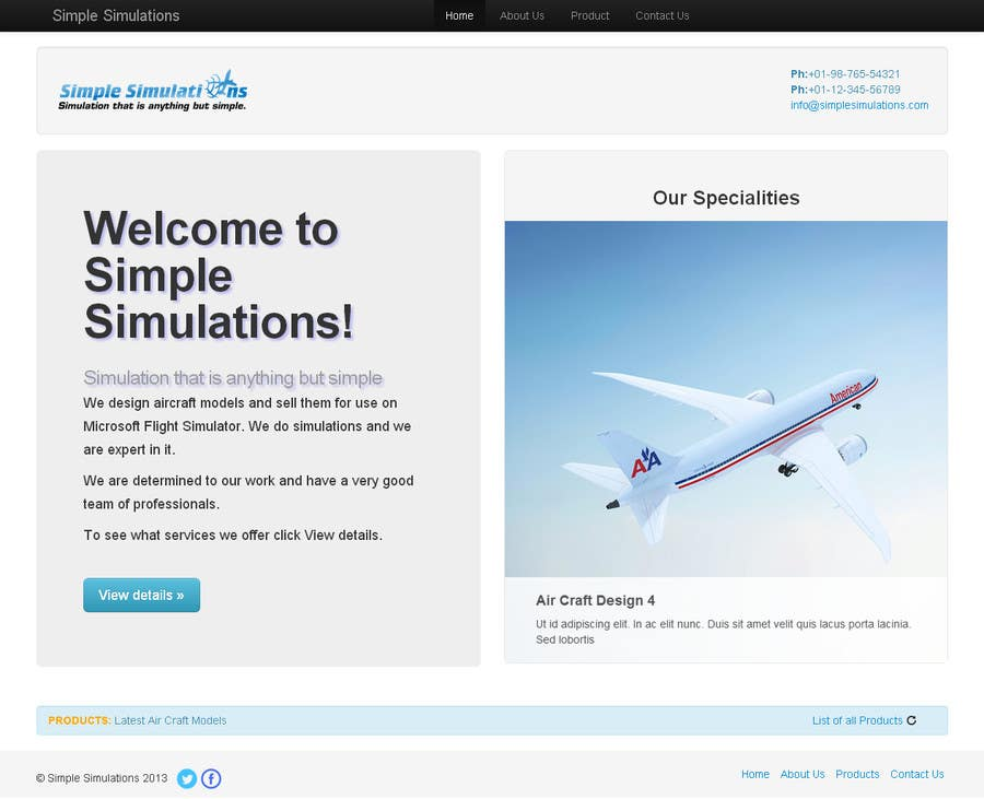 #10 for Design a Website for Simple Simulations by vikaskhunteta