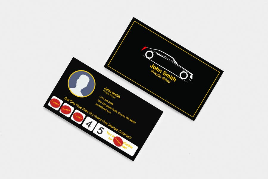 Entry 14 By Charlesngu For Business Card Private Driver Freelancer