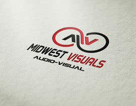 #431 untuk Design a Logo for Midwestvisuals.com - An Audio-Visual company oleh muhammadjunaid65