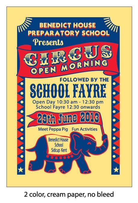 Kilpailutyö #25 kilpailussa Design a Flyer for School Open Day