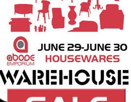 nº 3 pour Design a Flyer for Homewares Warehouse Sale par ninarache