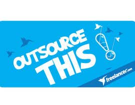 "#168 untuk Logo Design for Want a sticker designed for Freelancer.com ""Outsource this!"" oleh pradeepkc"
