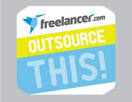 "#86 untuk Logo Design for Want a sticker designed for Freelancer.com ""Outsource this!"" oleh yesiret"