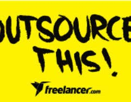 "#48 untuk Logo Design for Want a sticker designed for Freelancer.com ""Outsource this!"" oleh S4L"