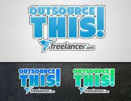 "#157 untuk Logo Design for Want a sticker designed for Freelancer.com ""Outsource this!"" oleh eX7ReMe"