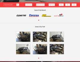 #1 untuk Design a Website Mockup for an auto parts wesbite oleh muhamedibrahim25