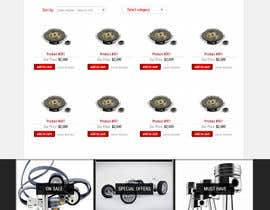 #7 untuk Design a Website Mockup for an auto parts wesbite oleh azzaldesigns
