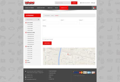 #8 untuk Design a Website Mockup for an auto parts wesbite oleh logodesire