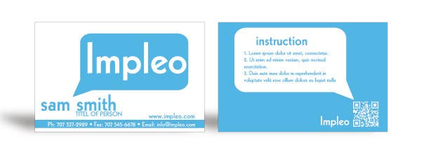 Proposition n°                                        105                                      du concours                                         Business Card Design for Impleo