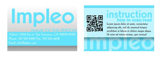 Contest Entry #                                        16                                      for                                         Business Card Design for Impleo