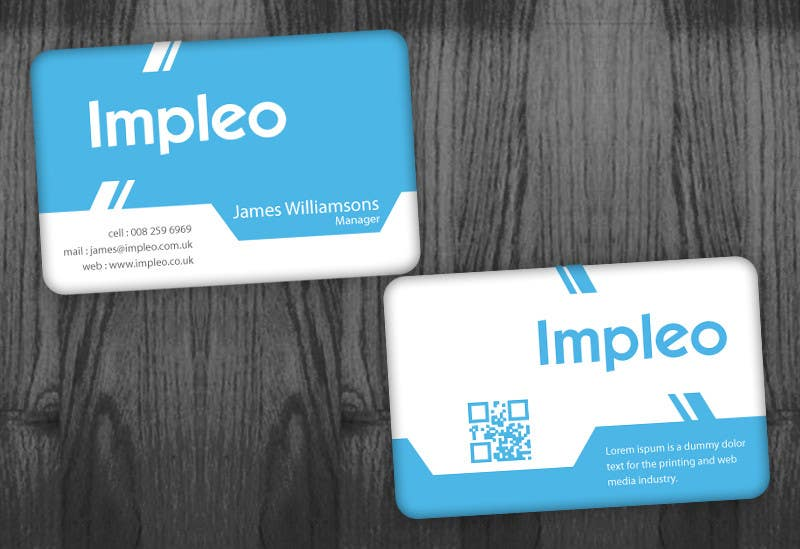 Contest Entry #                                        122                                      for                                         Business Card Design for Impleo
