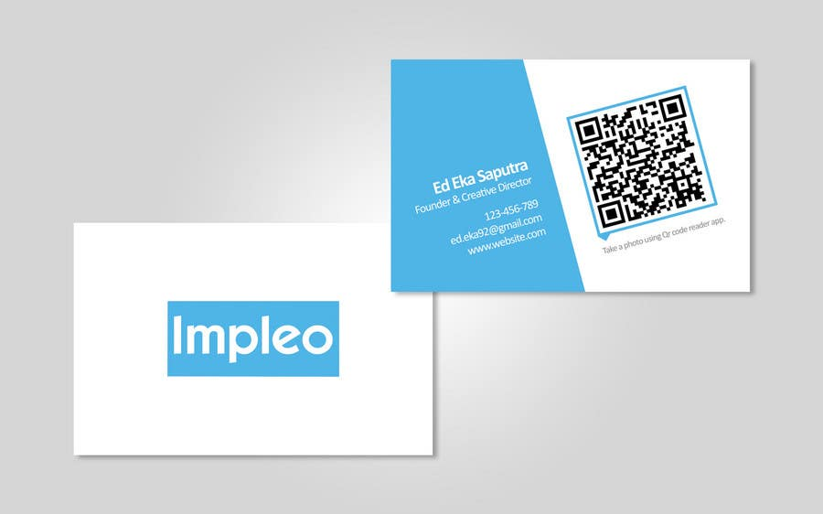 Proposition n°                                        85                                      du concours                                         Business Card Design for Impleo