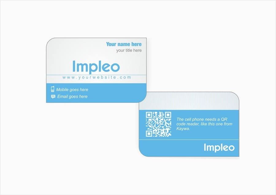 Proposition n°                                        47                                      du concours                                         Business Card Design for Impleo