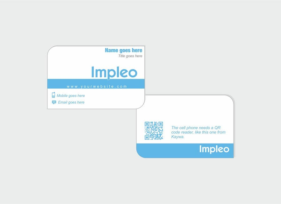 Proposition n°                                        88                                      du concours                                         Business Card Design for Impleo