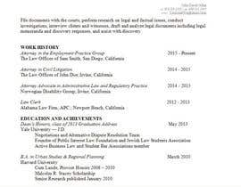 #5 for Legal Resumé Editing by Cristae102530