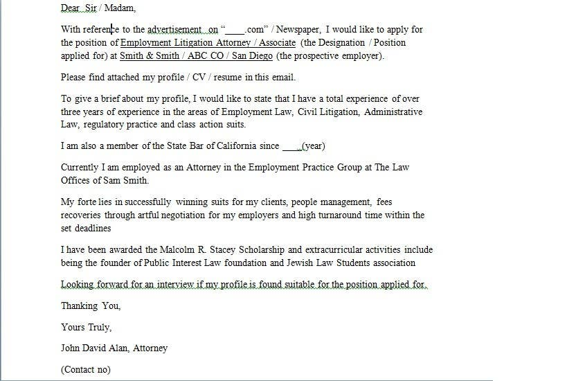 Entry #5 by vrsheth for Legal Cover Letter Required | Freelancer