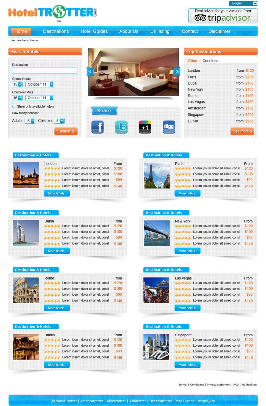 Contest Entry #68 for Website Design for Hoteltrotter