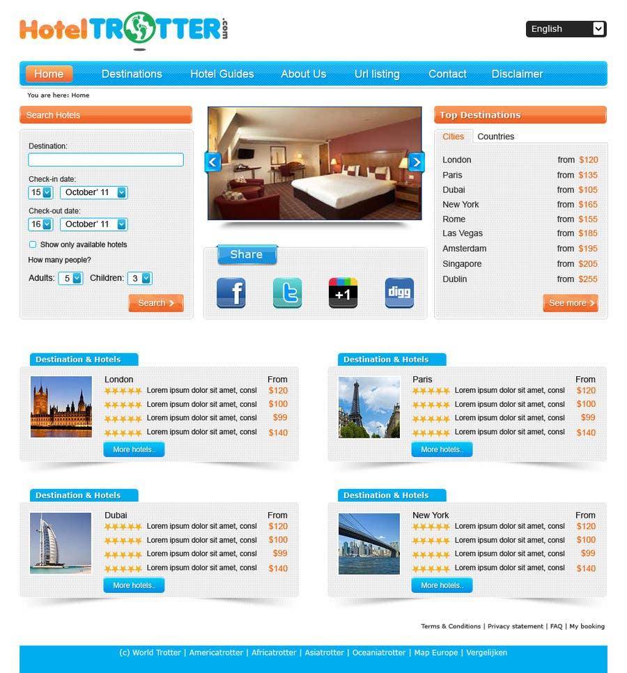 Contest Entry #45 for Website Design for Hoteltrotter