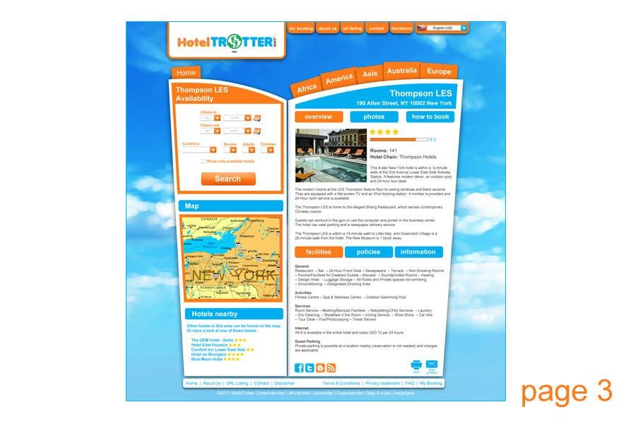 Inscrição nº 108 do Concurso para Website Design for Hoteltrotter