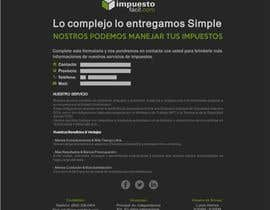 Nro 14 kilpailuun Hacer un boceto para un diseño web para Impuestofacil käyttäjältä carlaschartner