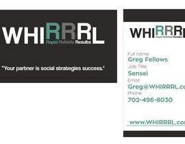 #2 cho Design some Business Cards for WHIRRRL bởi alexandrsandu