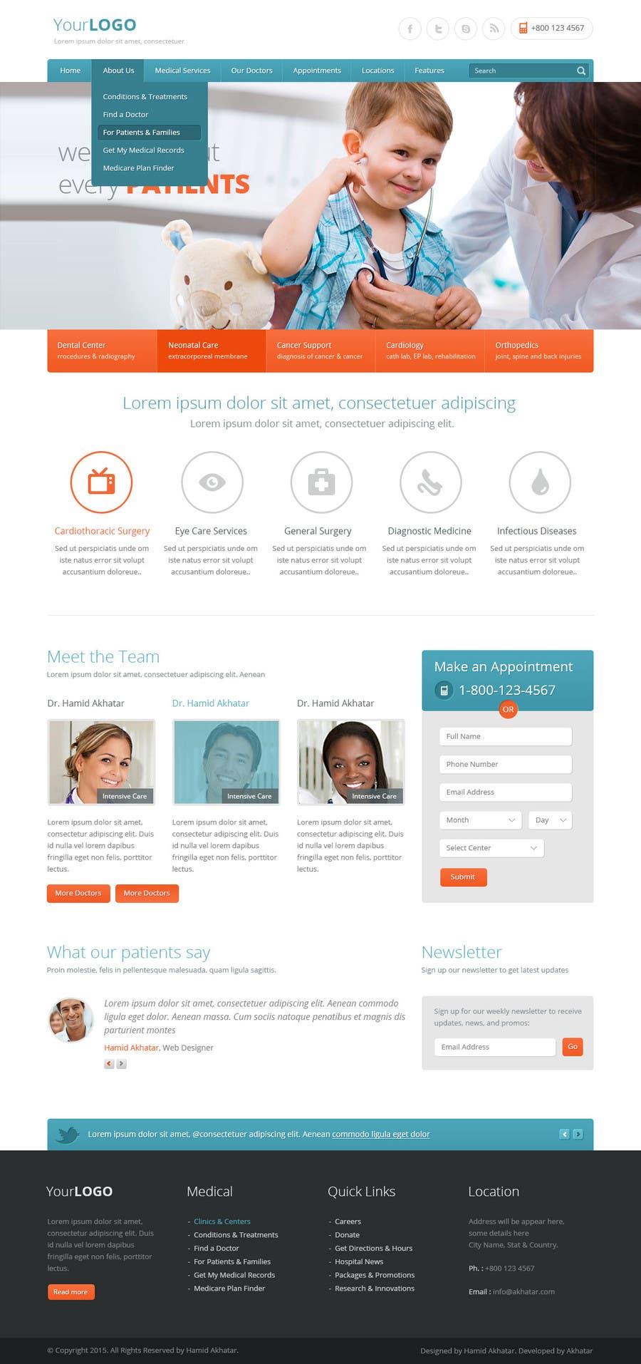 Bài tham dự cuộc thi #5 cho Design a Website Mockup for a surgeon
