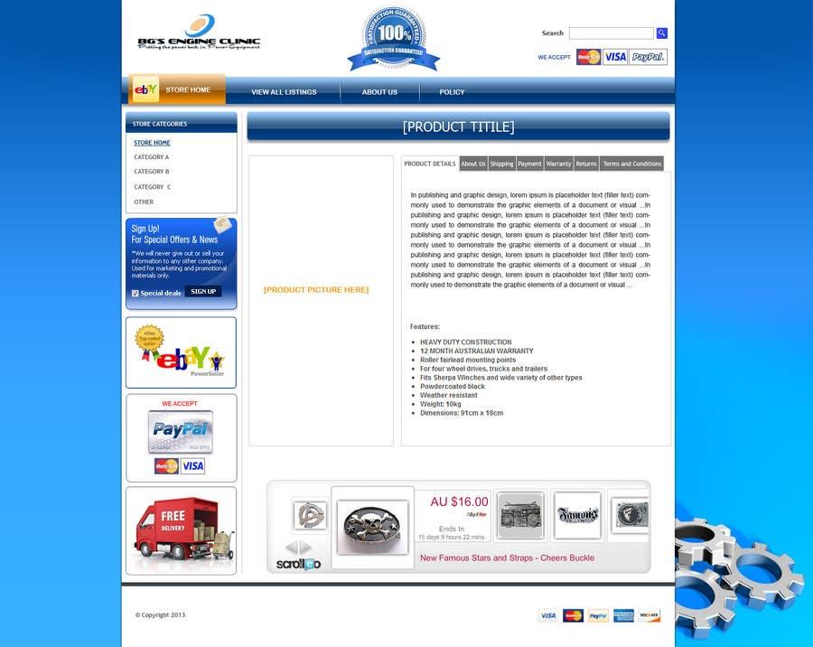 Inscrição nº                                         9                                      do Concurso para                                         Design an ebay Template for our eBay store & listings (Themed to our business)