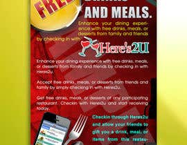 #3 para Design a In-store Restaurant Flyer for Mobile App. por shuvrapan