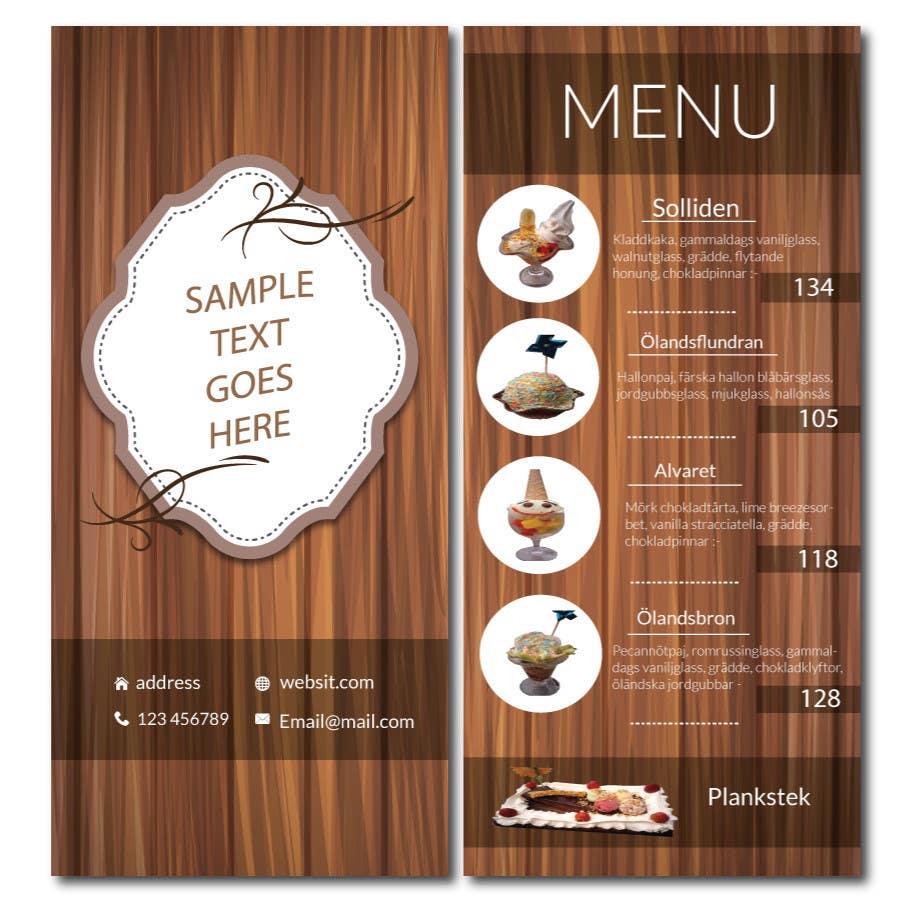 Bài tham dự cuộc thi #15 cho Create an ice cream parlor menu