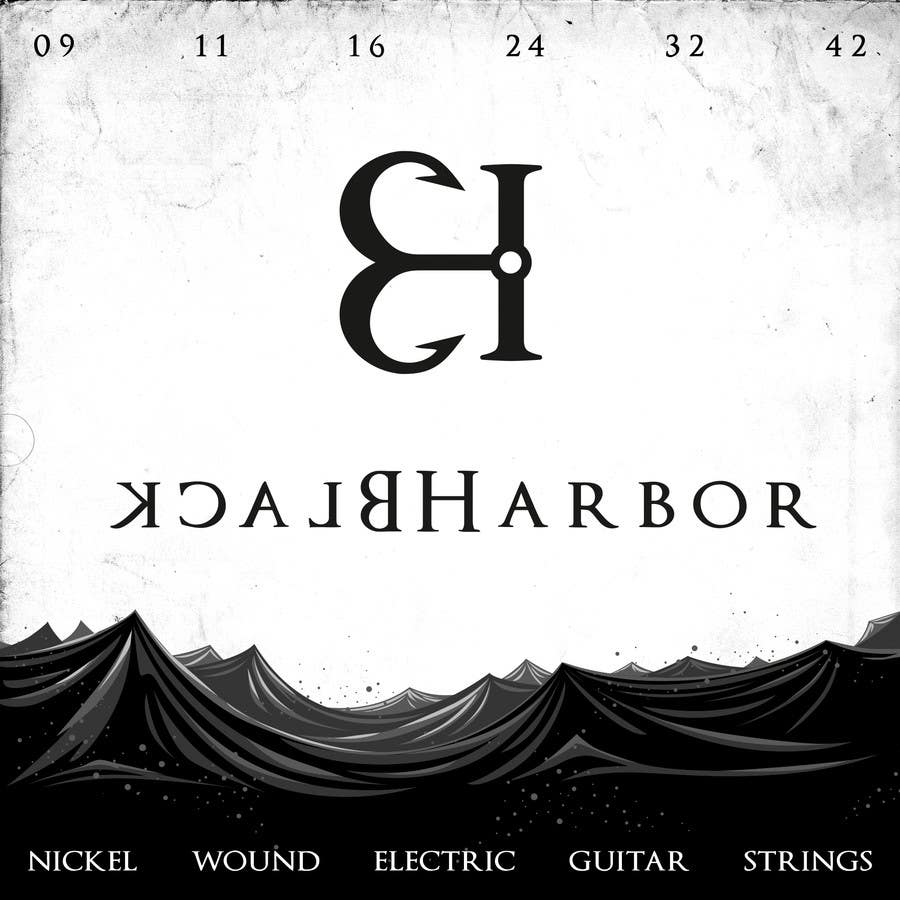 Konkurrenceindlæg #148 for Design a Logo for a Guitar Strings company called Black Harbor.