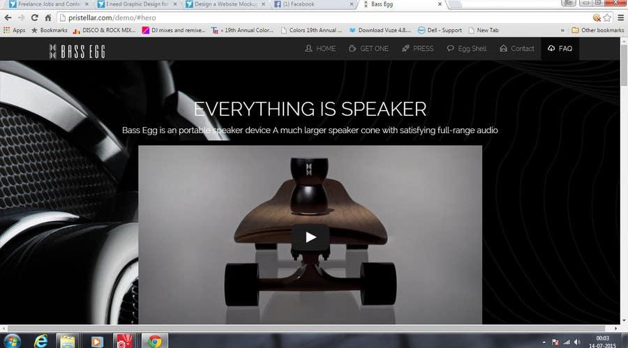 Entry #30 by invegastudio for Design a Website Mockup for BE
