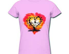 #60 cho Lovebird Design for White and Pink Women's T-Shirts bởi naikerhiroko