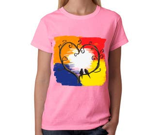 #40 cho Lovebird Design for White and Pink Women's T-Shirts bởi squirrel1811