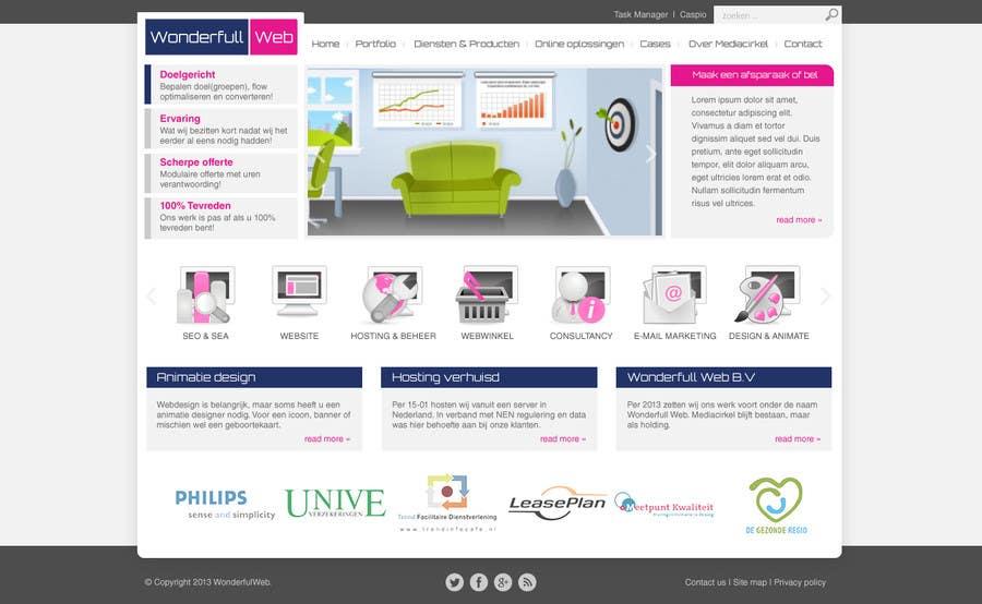 Penyertaan Peraduan #                                        8                                      untuk                                         Design a Website Mockup for www.wonderfullweb.nl