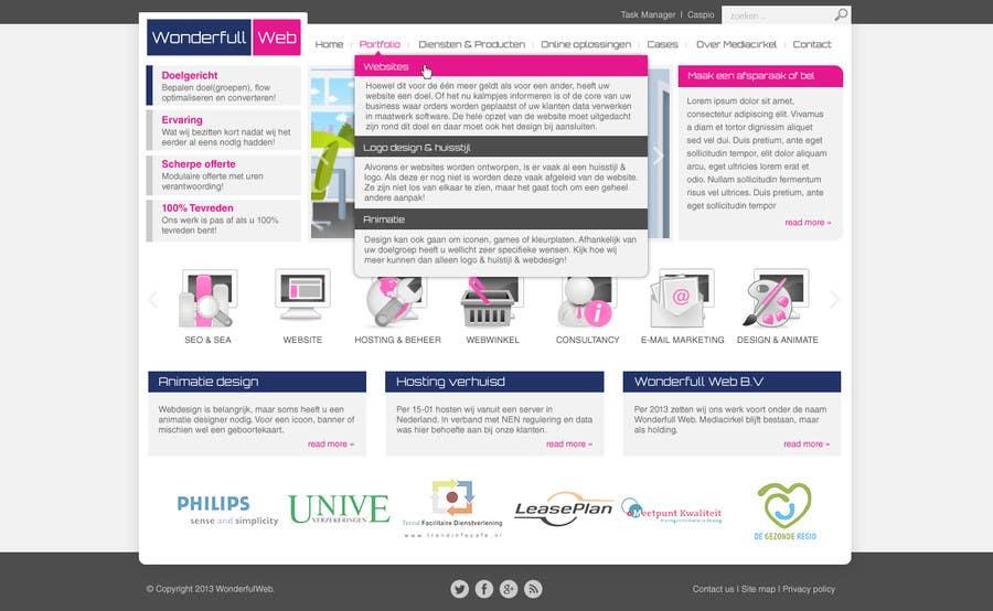 Penyertaan Peraduan #                                        39                                      untuk                                         Design a Website Mockup for www.wonderfullweb.nl