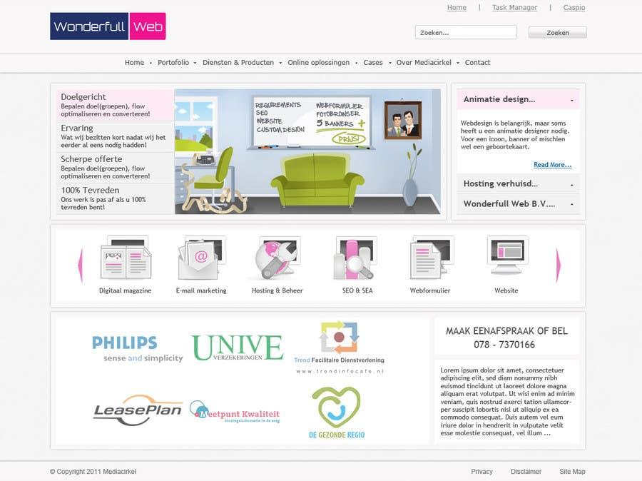 Penyertaan Peraduan #                                        40                                      untuk                                         Design a Website Mockup for www.wonderfullweb.nl