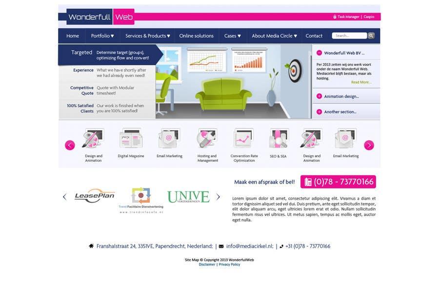 Penyertaan Peraduan #                                        30                                      untuk                                         Design a Website Mockup for www.wonderfullweb.nl