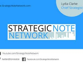 manojkaninwal tarafından Design Contemporary, Modern Business Cards for Strategic Note Network için no 31