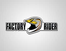 #33 untuk Design a Logo for Factory Rider - A Motorcycle Accessory Website oleh sorinakevw